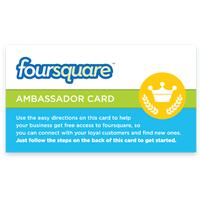 Foursquare Ambassador Card Logo